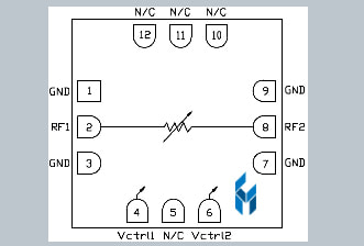 Custom MMIC DC-20GHz Voltage Variable Attenuator
